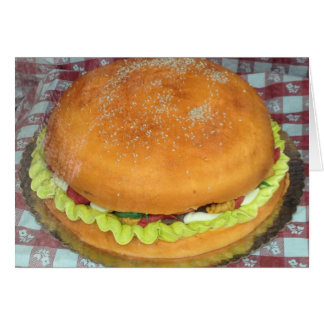 ENJOY-A HAMBURGER CAKE FOR YOUR BIRTHDAY CARD