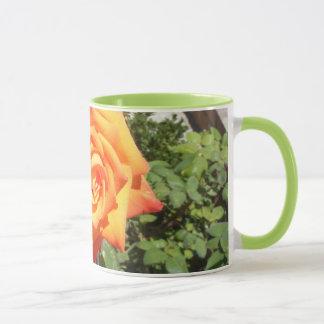 Enjoy a Mug with an Orange Rose from Balboa Island