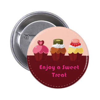 Enjoy a Sweet Treat Cupcakes Button