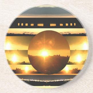 ENJOY and  share JOY -   SUN SPARKLE Sandstone Coaster