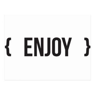 Enjoy - Bracketed - Black and White Postcard
