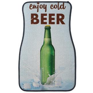Enjoy cold Beer Beverage Poster. Car Mat