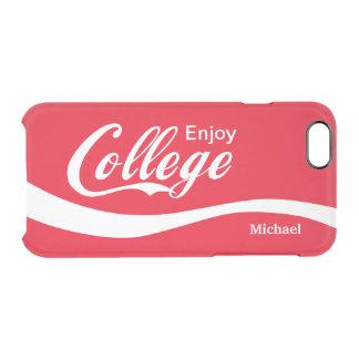 Enjoy College Life Funny Typography Design iPhone 6 Plus Case
