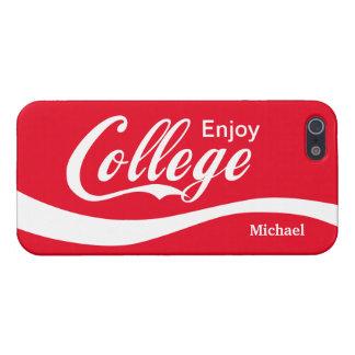 Enjoy College Life Funny Typography Design iPhone 5/5S Cases