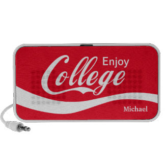 Enjoy College Life Funny Typography Design iPod Speakers