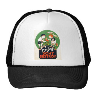 Enjoy Don't Destroy - Go Green Earth! 1937 Cap