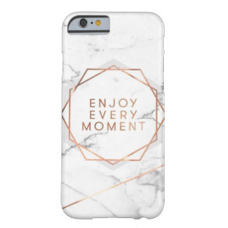 Enjoy Every Moment Marble Rose Gold Case
