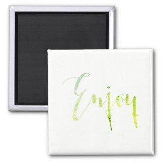 Enjoy Greenly White Resort Hotel Beauty Center Square Magnet