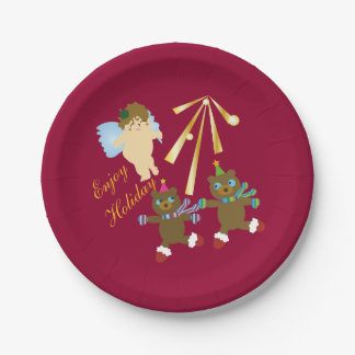 Enjoy Holiday Paper Plate