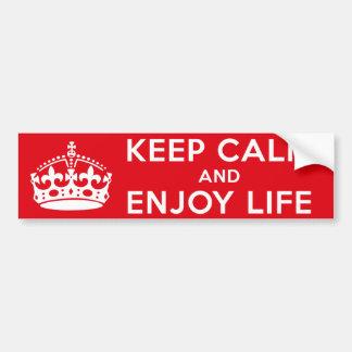 Enjoy Life Bumper Sticker