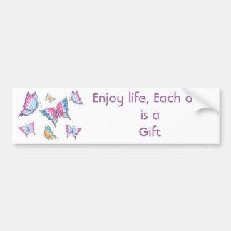 Enjoy life, Each day is a Gift Bumper Sticker