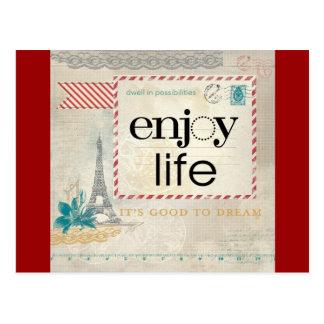 Enjoy Life It s Good to Dream Postcards