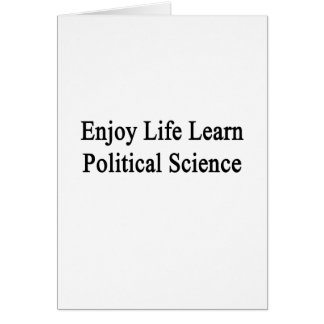 Enjoy Life Learn Political Science Note Card