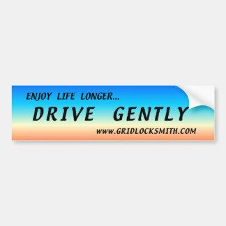 ENJOY-LL+D-GENTLY BUMPER STICKER