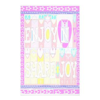 ENJOY n SHARE JOY: Special Soft Colors Stationery Design