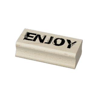 Enjoy rubber stamp, enjoy stamp, rubber stamp, diy rubber stamp