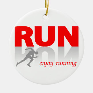 Enjoy running christmas ornament