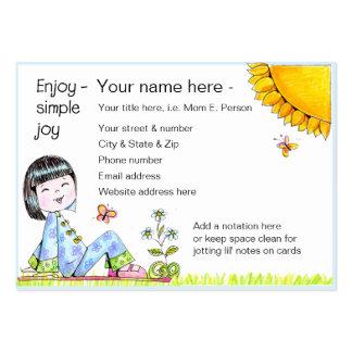 Enjoy Simple Joy biz' card Pack Of Chubby Business Cards