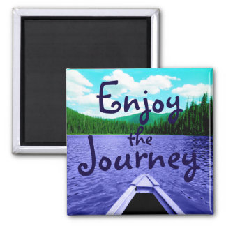 Enjoy the Journey Canoe on Lake Magnet