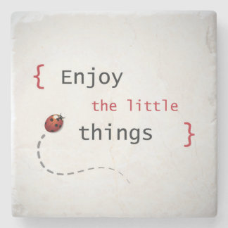Enjoy The Little Things 2 Stone Coaster