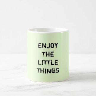 ENJOY THE LITTLE THINGS. BASIC WHITE MUG