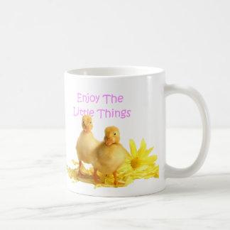 Enjoy The Little Things, Ducklings Basic White Mug