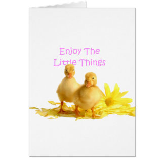 Enjoy The Little Things, Ducklings Greeting Card