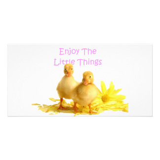 Enjoy The Little Things, Ducklings Photo Greeting Card