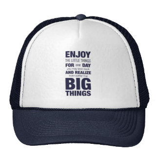 Enjoy the little things Inspirational Typography Mesh Hat