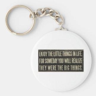 Enjoy the little things key ring