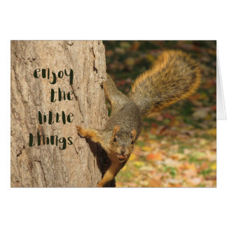 enjoy the little things Notecard Note Card