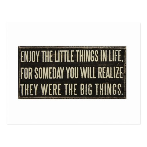Enjoy the little things post cards