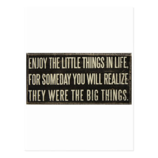 Enjoy the little things postcard