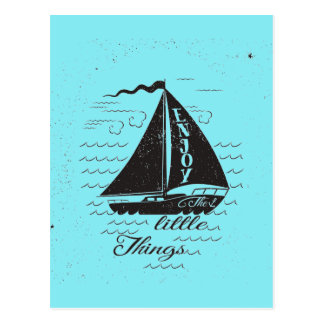 Enjoy The Little Things Poster Postcard