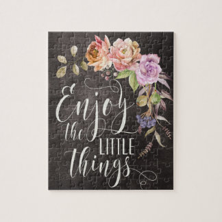 Enjoy The Little Things Puzzle
