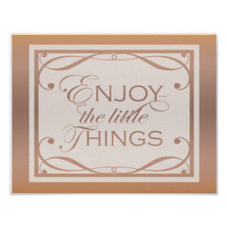 Enjoy the little things quote design. poster