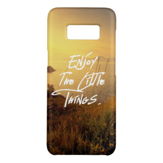 """""""Enjoy the little Things""""  Quote Sunset Sea View Case-Mate Samsung Galaxy S8 Case"""