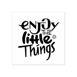 Enjoy the little things - Wood Stamp
