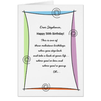 Enjoy the moment 50th Birthday Card