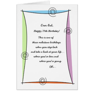 Enjoy the moment 75th Birthday Card