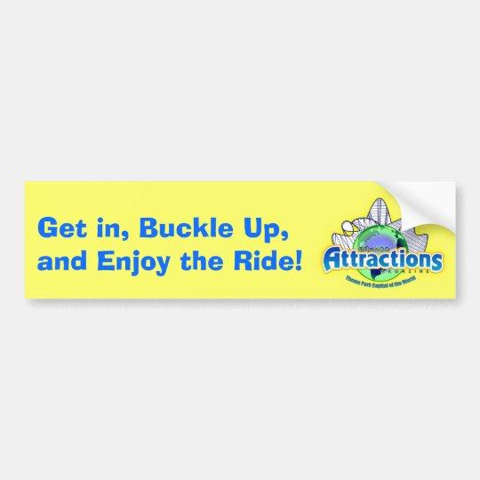 Enjoy the Ride! Bumper Sticker
