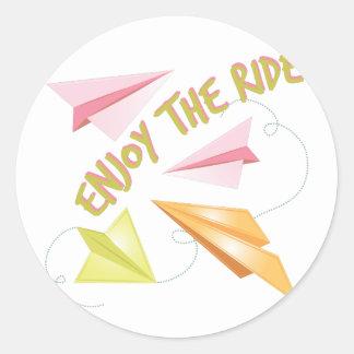 Enjoy The Ride Round Sticker