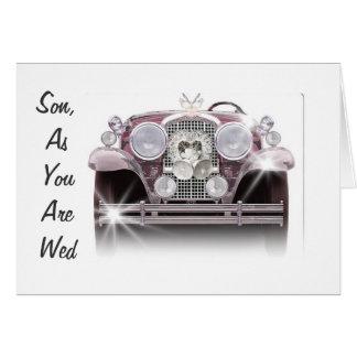 ENJOY THE RIDE-SON WEDDING CARD