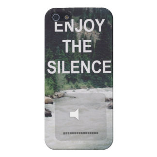 Enjoy The Silence iPhone 5 Protectores