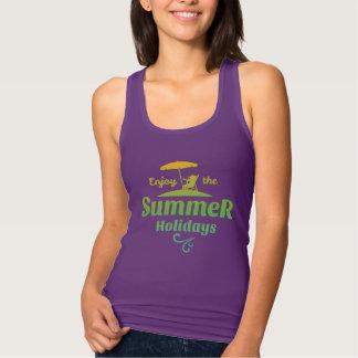 Enjoy the summer holiday women's tank top