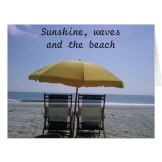 ENJOY THE SUN THE WAVES/YOUR HONEYMOON BIG GREETING CARD