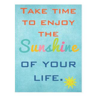 Enjoy the Sunshine Postcard