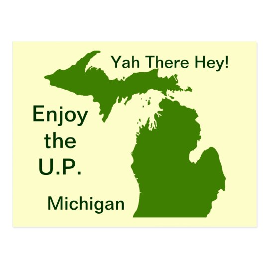 Enjoy the U.P. Michigan with Da Yoopers Postcard