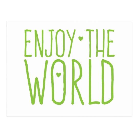 enjoy the world postcard