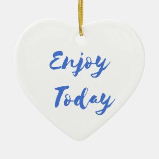 enjoy today ceramic heart decoration